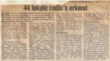 Artikel: Antwerpen, juni 1983: 44 lokale radio's erkend
