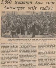 Artikel: Betoging in Antwerpen