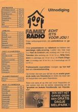 Flyer, september 1999, naar aanleiding van de eerste verjaardag.