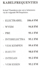 Radio Magdalena, frequenties