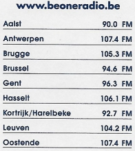Radio Be One frequenties