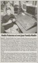 Artikel: Radio Palermo al een jaar Familyradio